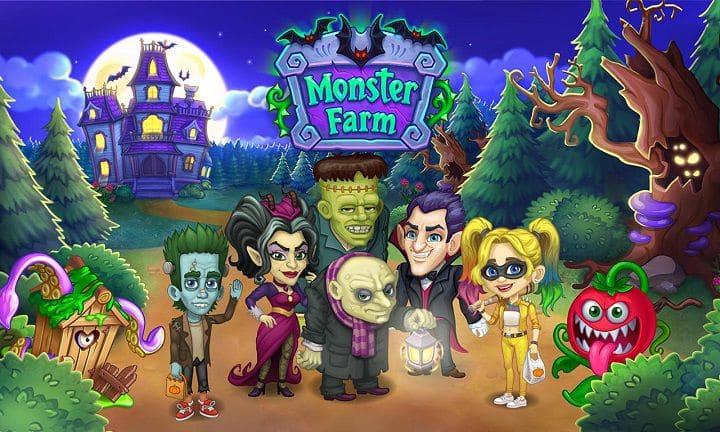 Monster Farm berkebun di suasana halloween